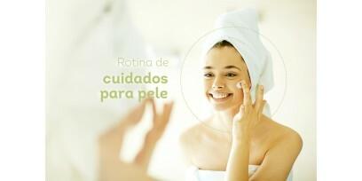 Rotina de cuidados faciais com cosméticos veganos